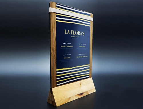 Wood Menu Stand Display for Event