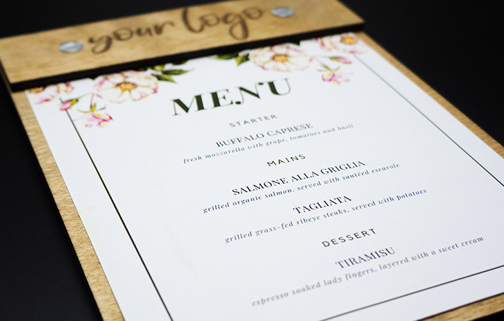 Wood Board Menu for Events